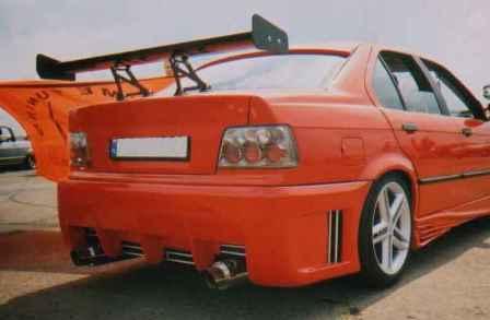 накладки на передний бампер BMW e36